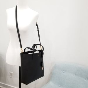 Saint Laurent Crossbody Tote Shopper Black Bag